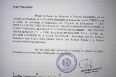 The Declaration 174 officially adopted by the Paraguayan National Congress hightlights the importance of cooperatives for the cou
