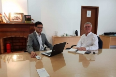Mr Edwin Reimer and José-Manuel Bautista, working on input for the Declaration.